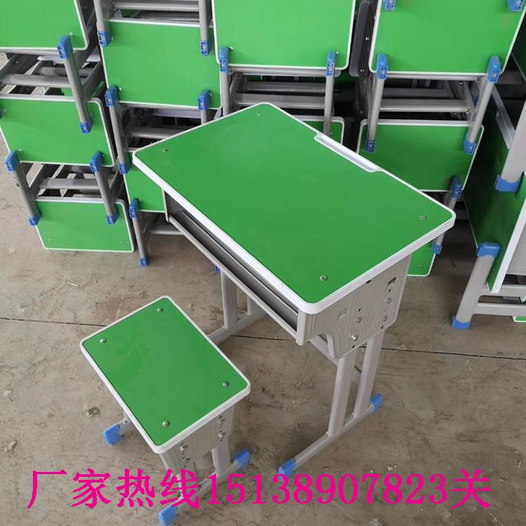 平頂山學生單人鋼木課桌凳