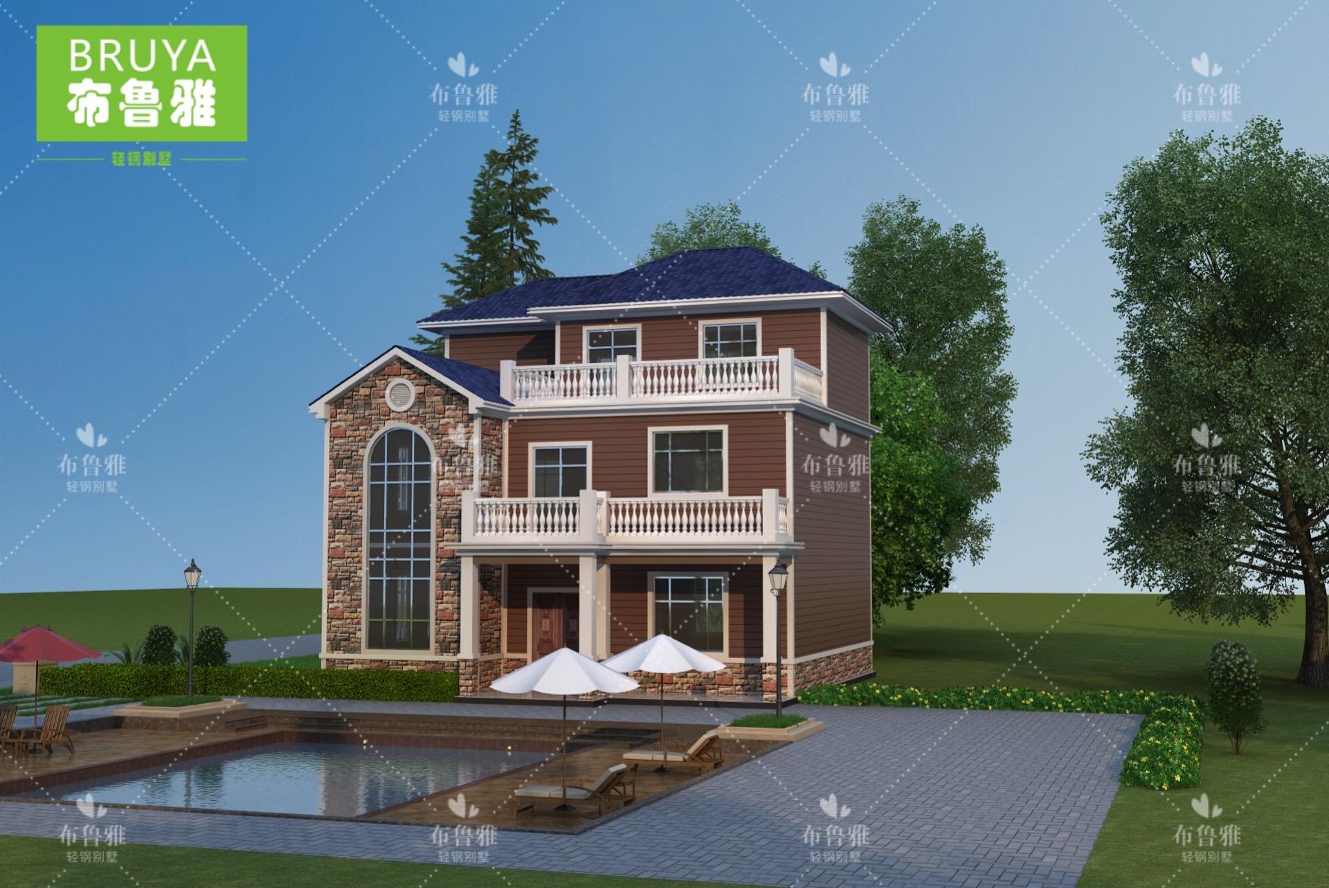 广西轻钢别墅建房案例