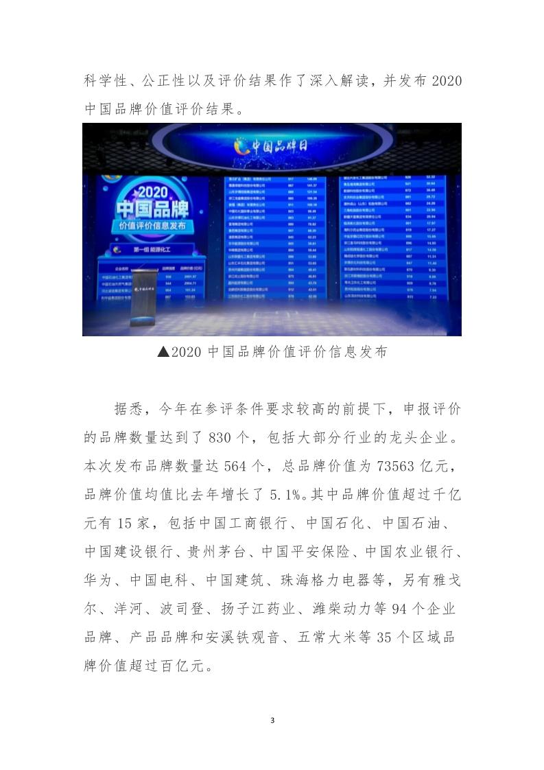 中国品牌价值评价结果发布