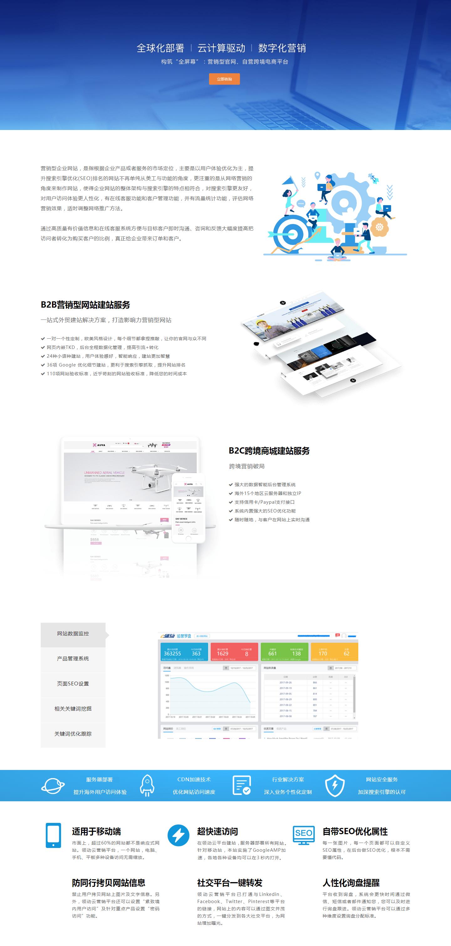 營銷型網站建設