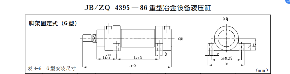 JB/ZQ 4395-86重型冶金設備液壓缸