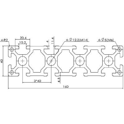 40160D-10欧标铝型材
