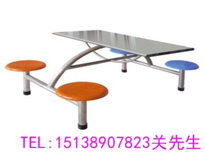 洛阳4人位连体餐桌凳
