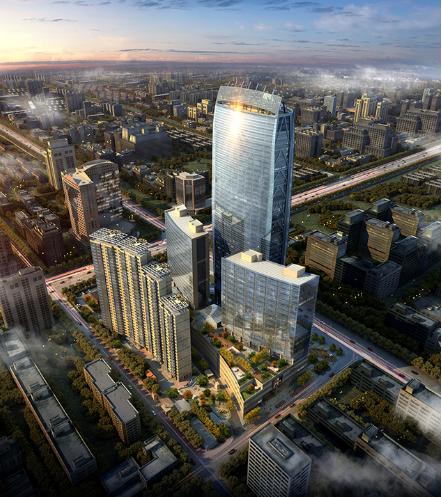长春国际金融中心钢结构防火涂料施工工程