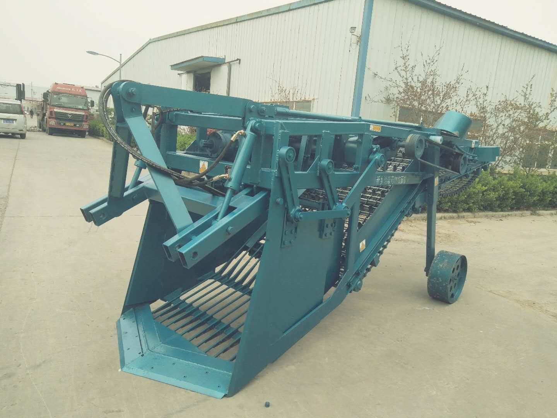 根茎类药材收获机加侧提升装置可直接装车