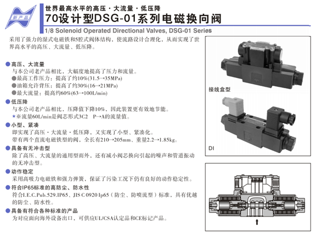 DSG-01系列電磁換向閥(70號設計)