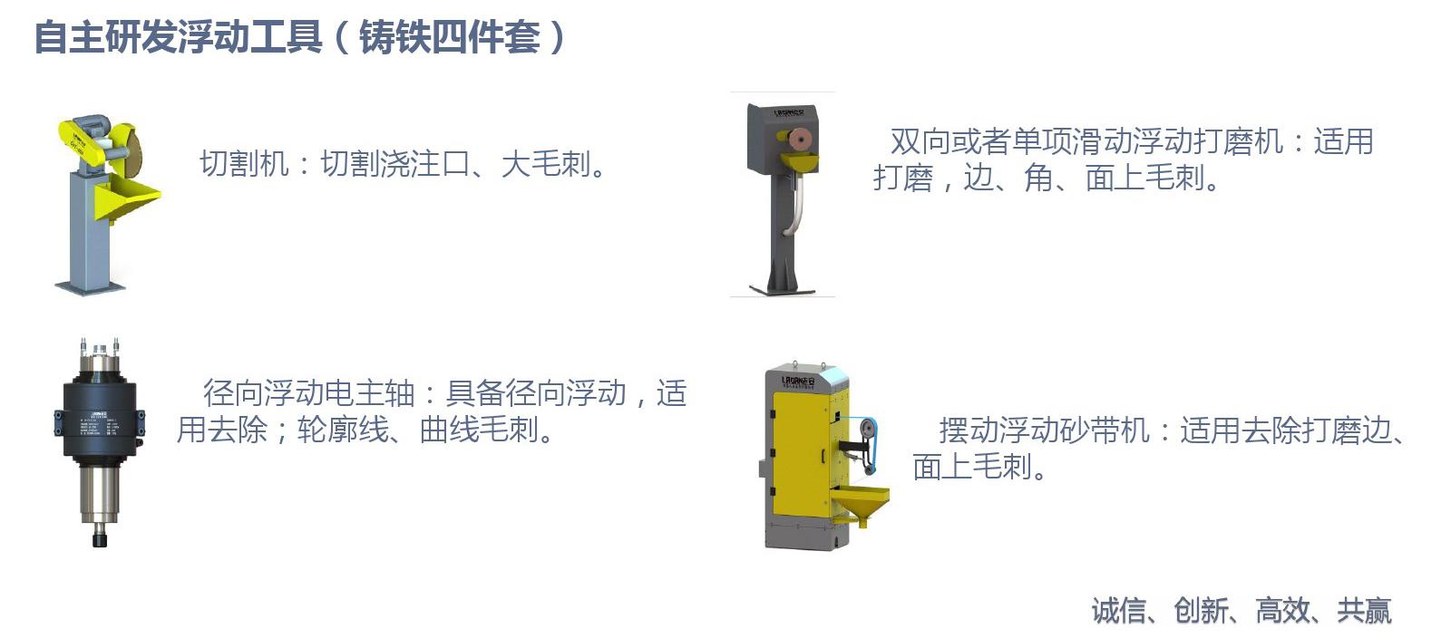 自主研发浮动工具(铸铁四件套)