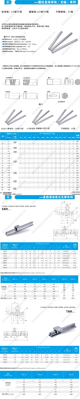 SBR系列圆柱导轨