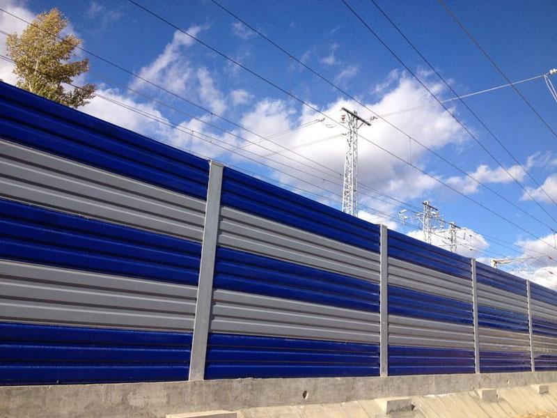 鐵路彩鋼板聲屏障