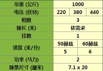 CH-1000小金刚电动葫芦