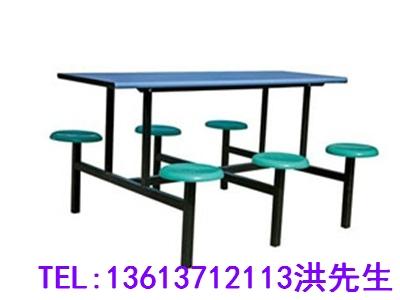 信阳6人不锈钢餐桌椅