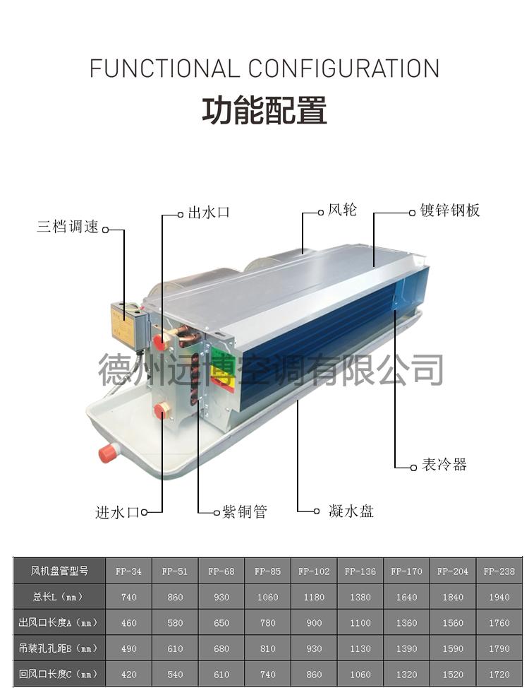FP-85WA卧式暗装风机盘管