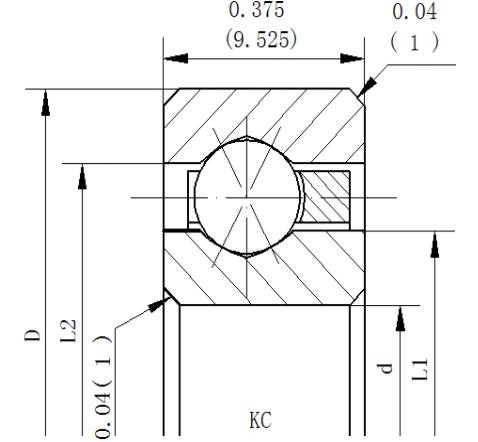 开式深沟球类型NKC