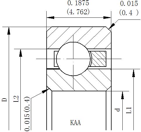 开式深沟球类型NKAA