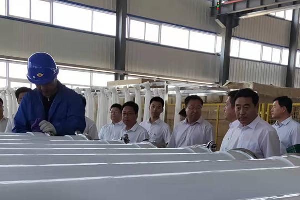 辽宁省朝阳市领导到我公司视察产业园区建设进度