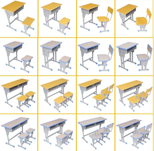 安陽學生固定課桌椅