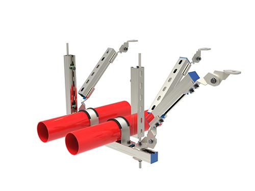 多管雙向抗震支架