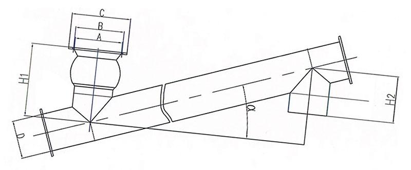 219mm*6m螺旋输送机