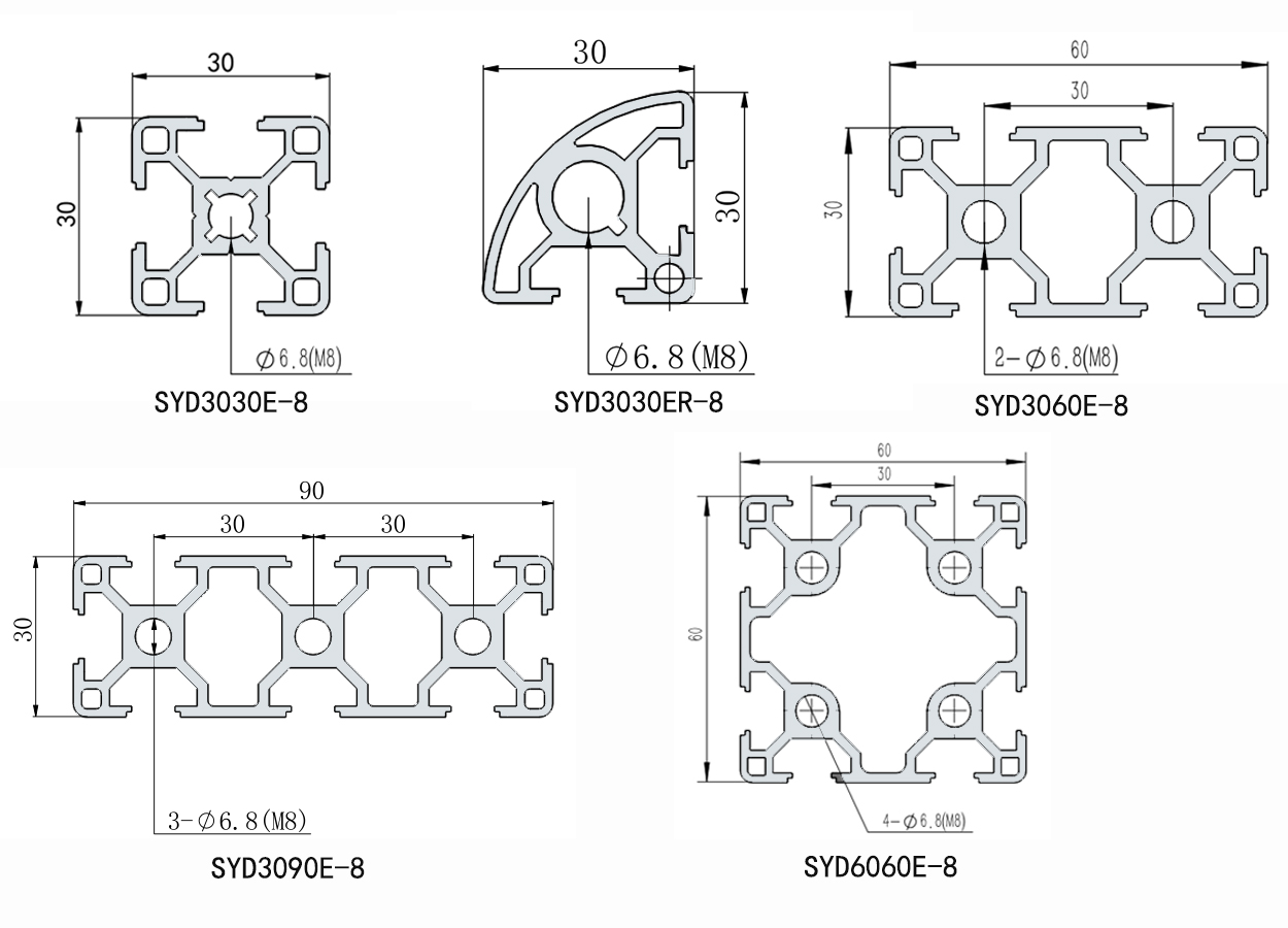 工業鋁型材及配件