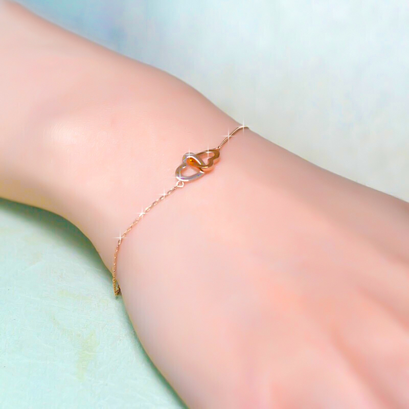玫瑰金项链女18K 简约气质锁骨链送女友朋友老婆生日礼物