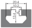 欧标45系列中心孔12