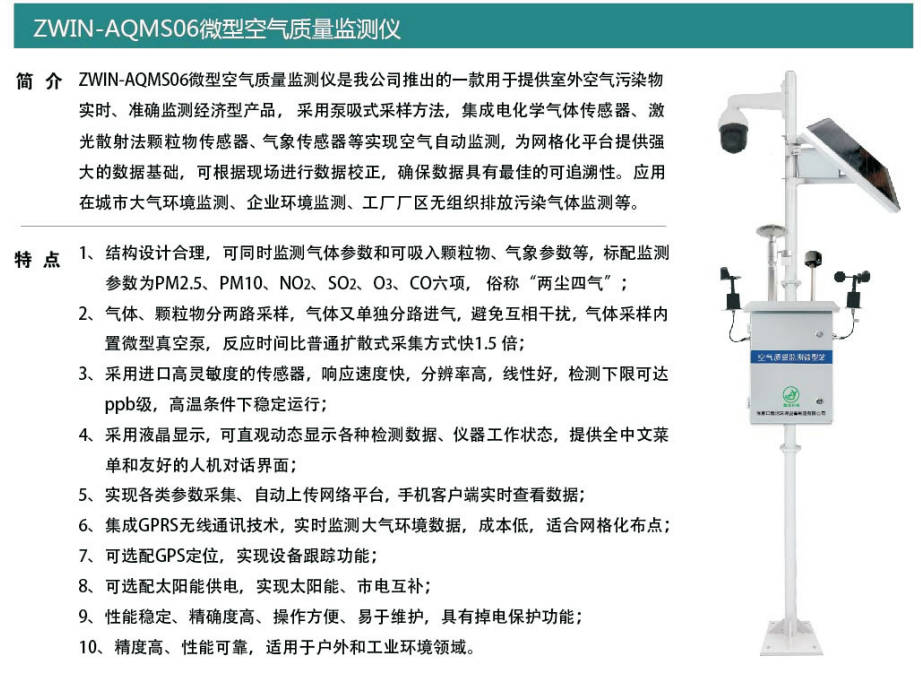 ZWIN-AQMS06微型空氣質量監測儀