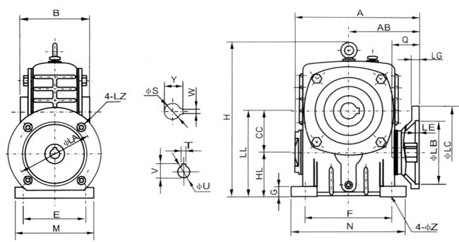 WPDKA蜗轮减速机