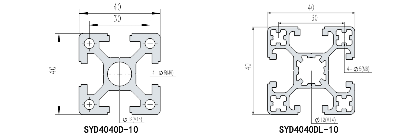 欧标40系列中心孔12