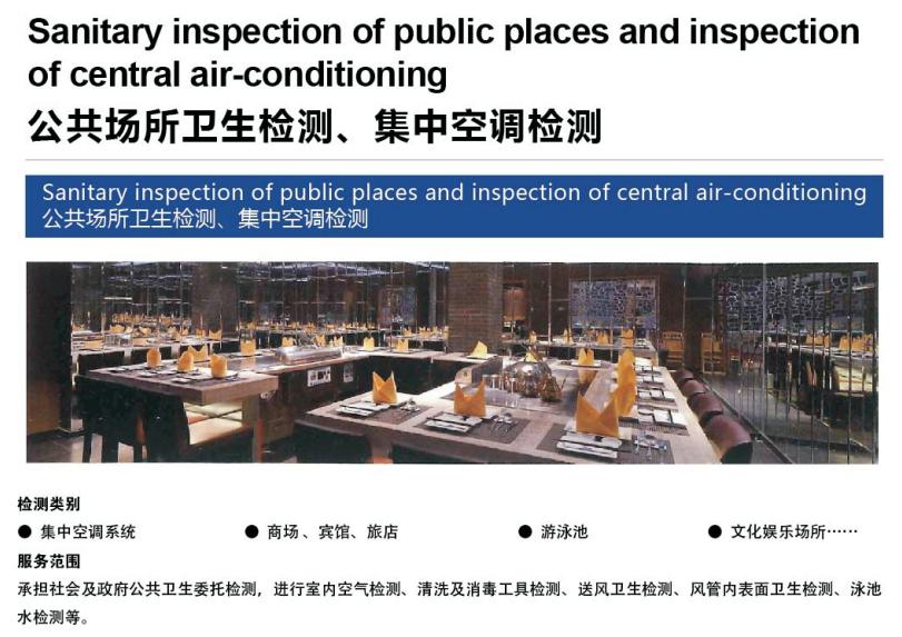 公共場所衛生檢測、集中空調檢測