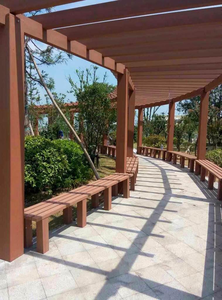 西安塑木廊架