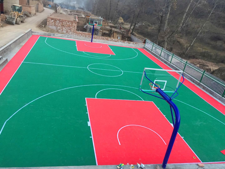 兰州硅pu塑胶篮球场