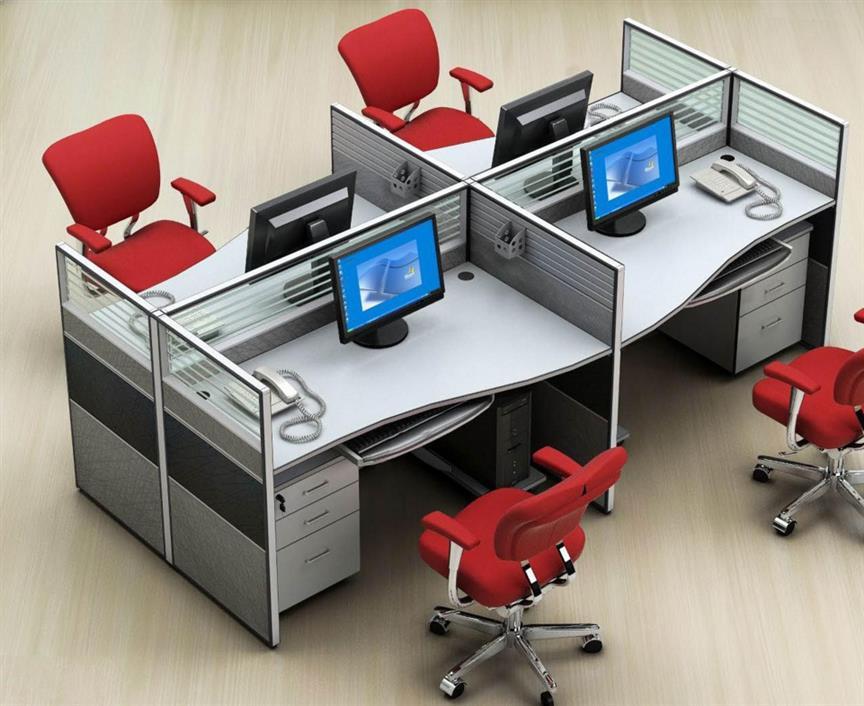 河南带屏风的电脑桌