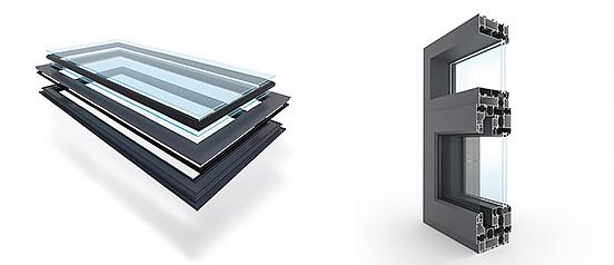 130框扇齐平系统窗