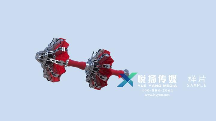 管道机器人动画