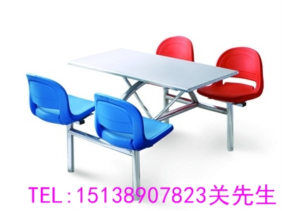 许昌四人不锈钢餐桌椅