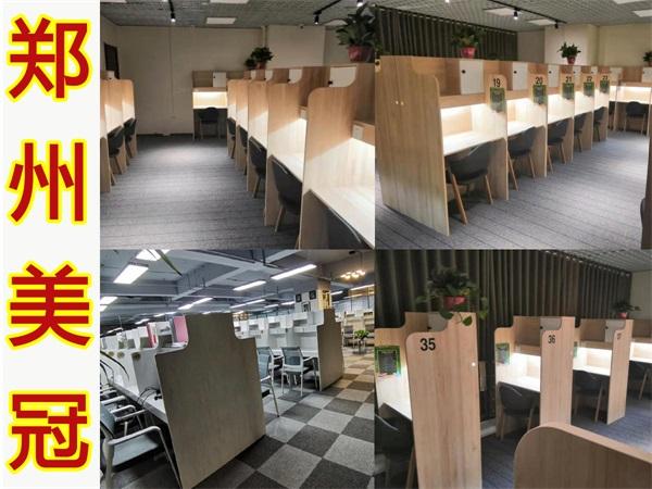河南备考自习室桌子