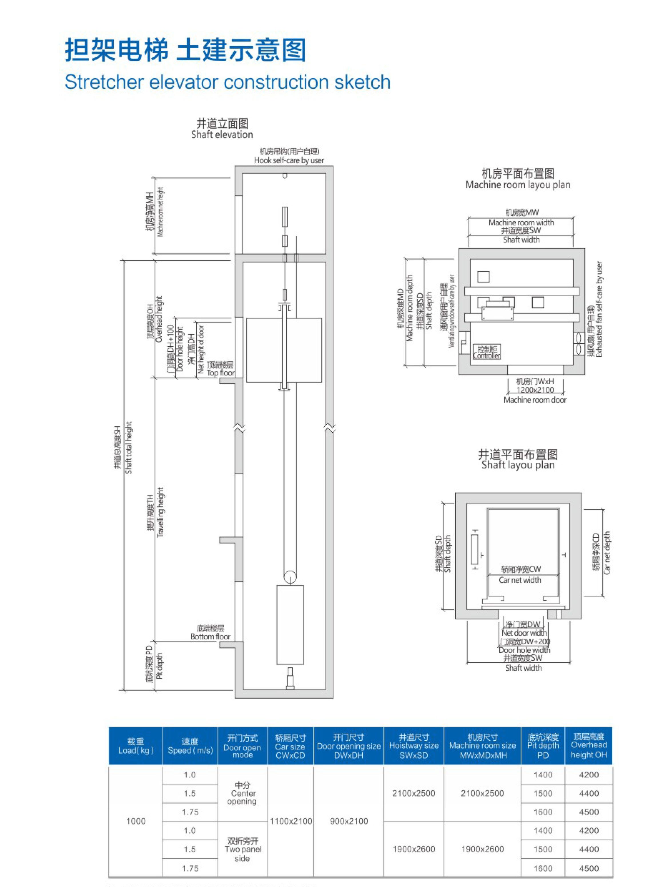 福建担架电梯安装