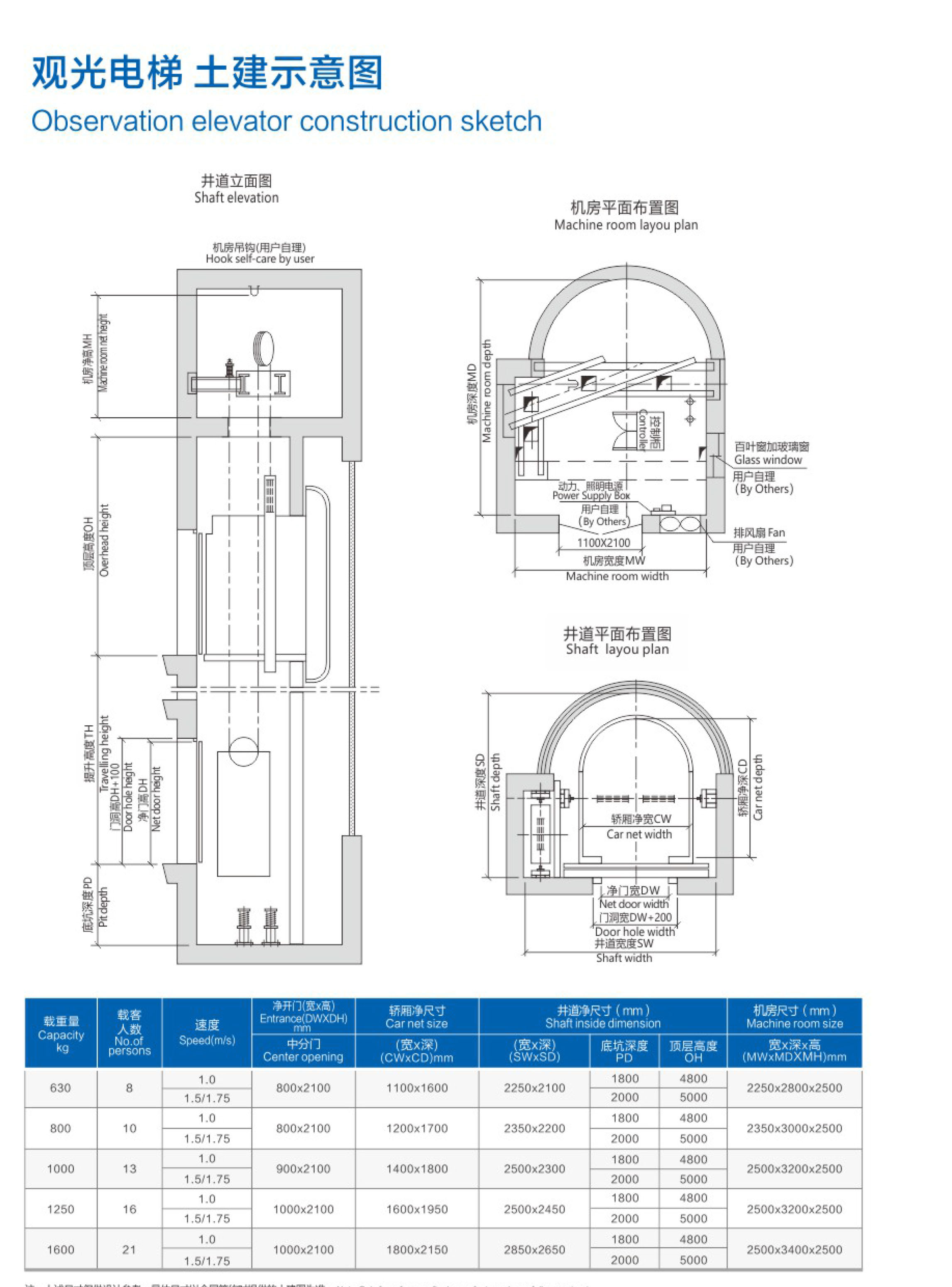 福建观光电梯