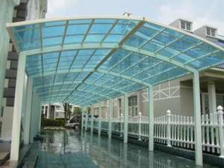 兰州玻璃雨棚