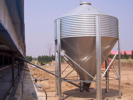 猪用养殖不锈钢饲料塔