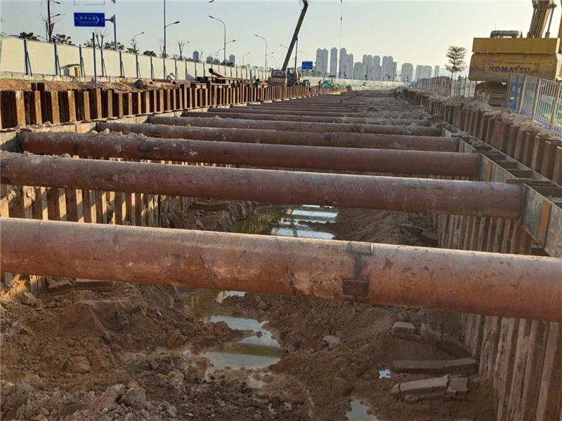 集美北溪饮水工程钢板桩施工