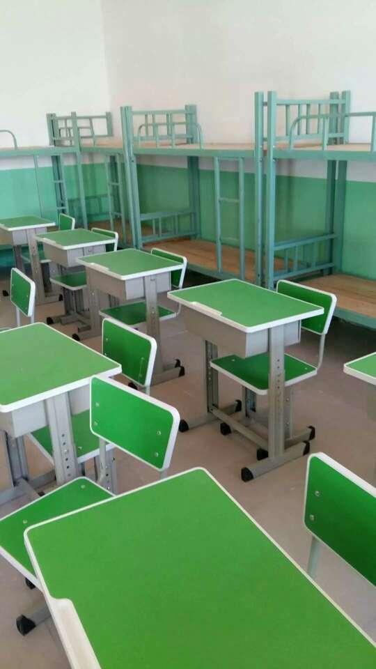 单人升降课桌凳