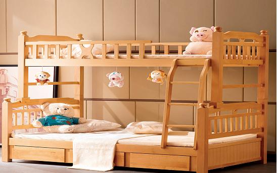 实木床高低床