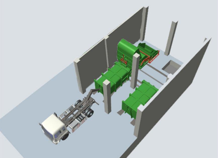 水平式垃圾压缩机