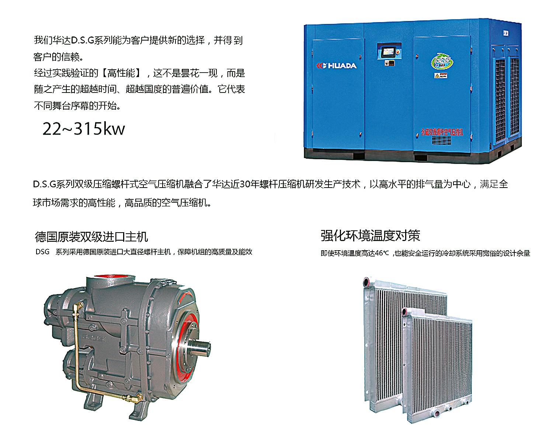 永磁雙級螺桿式空壓機