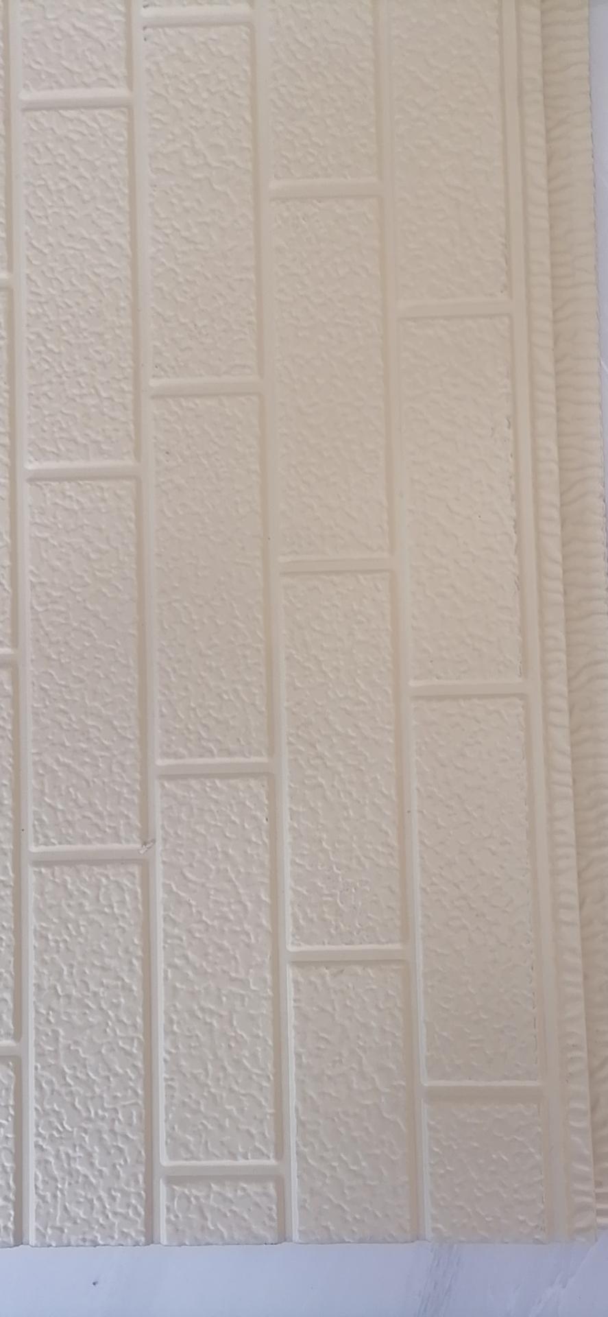 米黄七砖弹涂雕花板