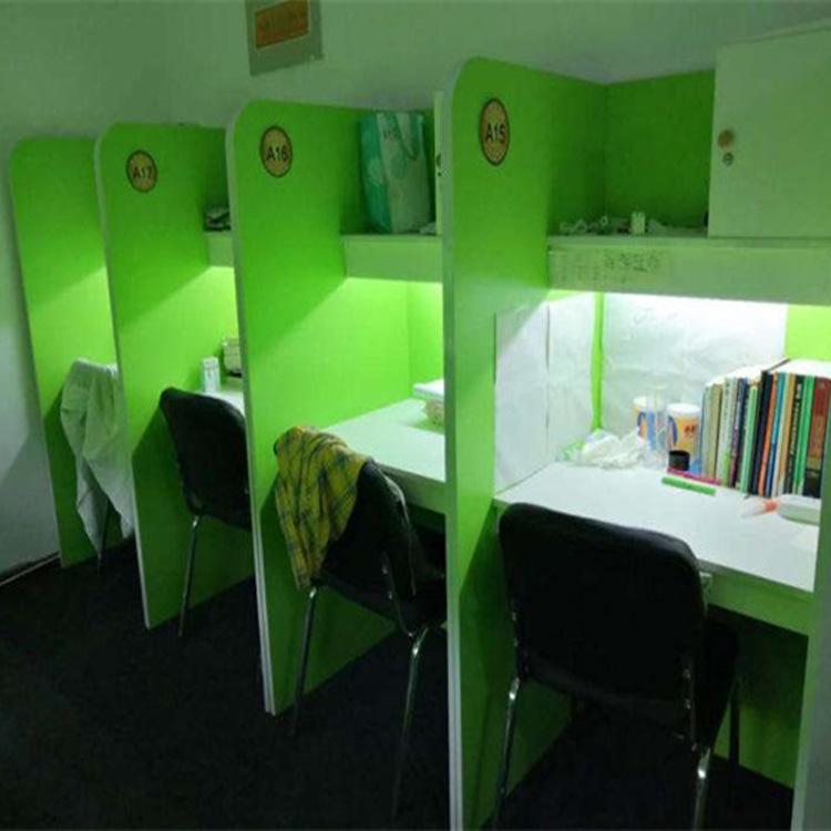 河南书柜一体自习桌