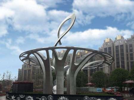 沈阳白钢雕塑