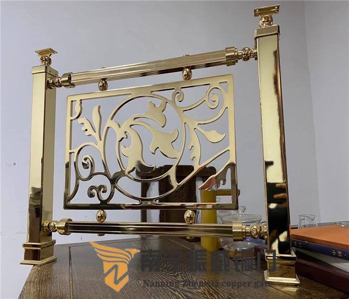 广西纯铜楼梯扶手