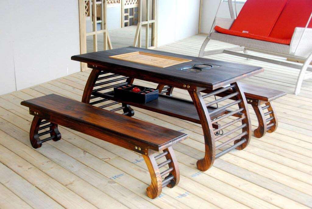 沈阳防腐木桌椅